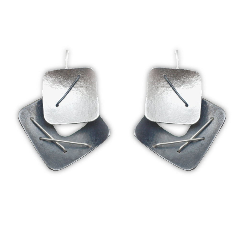 Two Piece Earring with Large Top