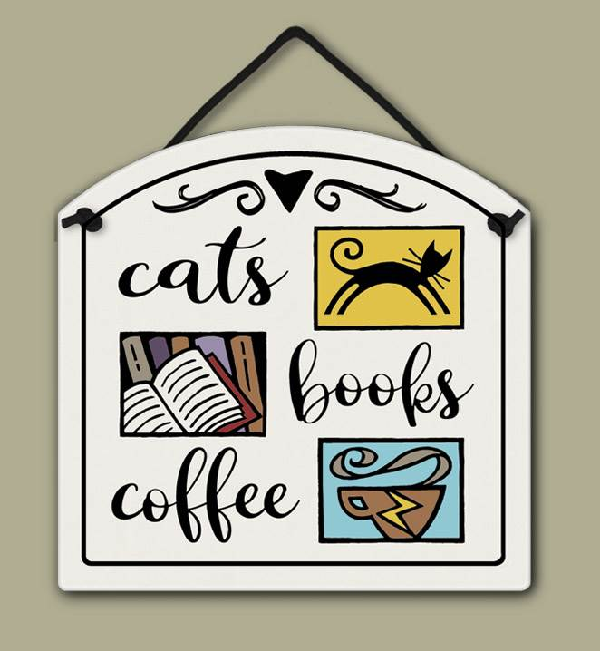 Cats, Books, Coffee