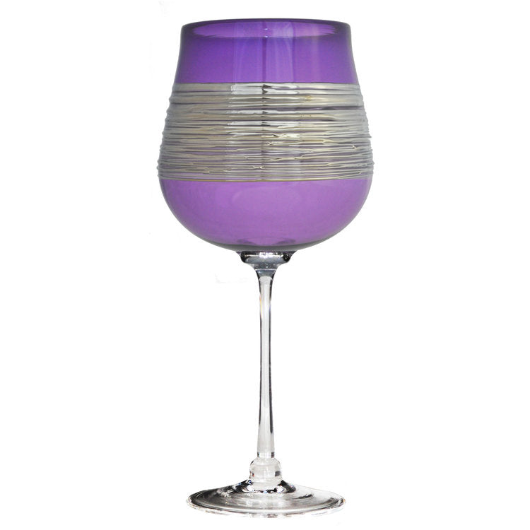Silver Spun Purple Stemware (multiple styles)