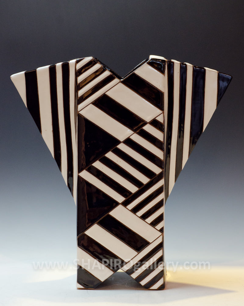 One-of-a-Kind Black and White Sculpture