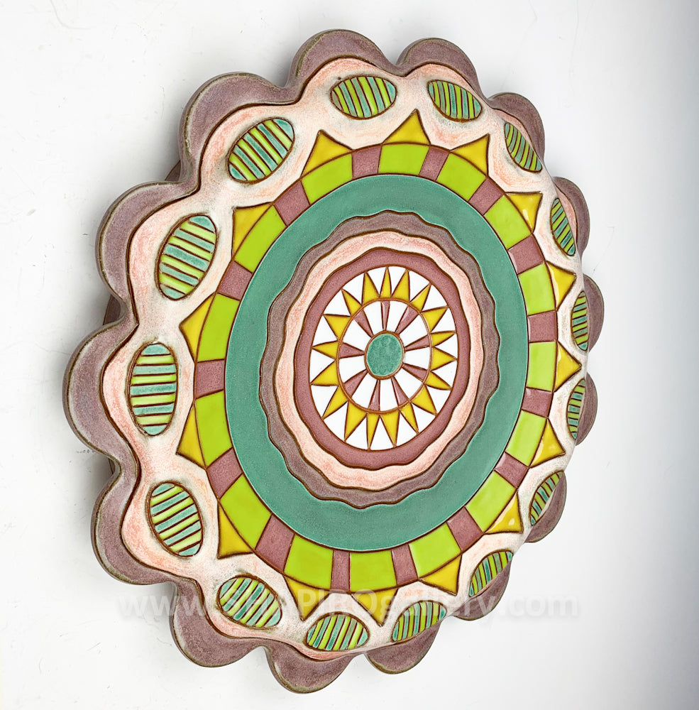 Ceramic Wall Plate - Pop Flower