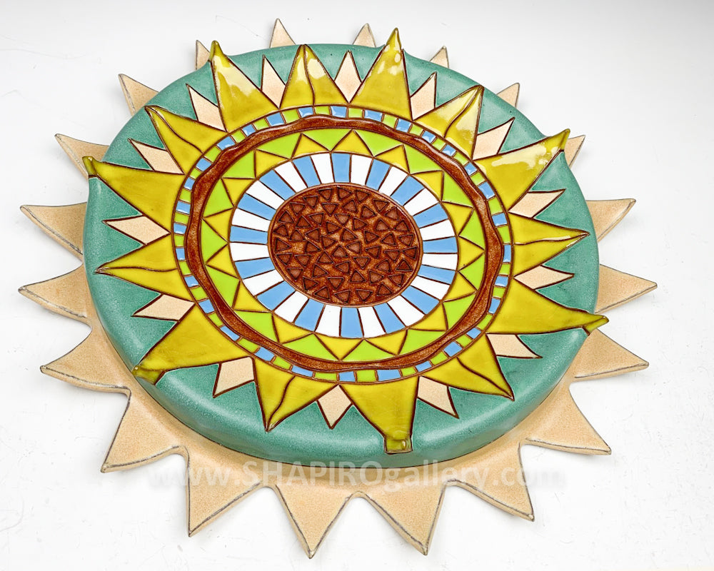 Ceramic Wall Plate - Sunflower