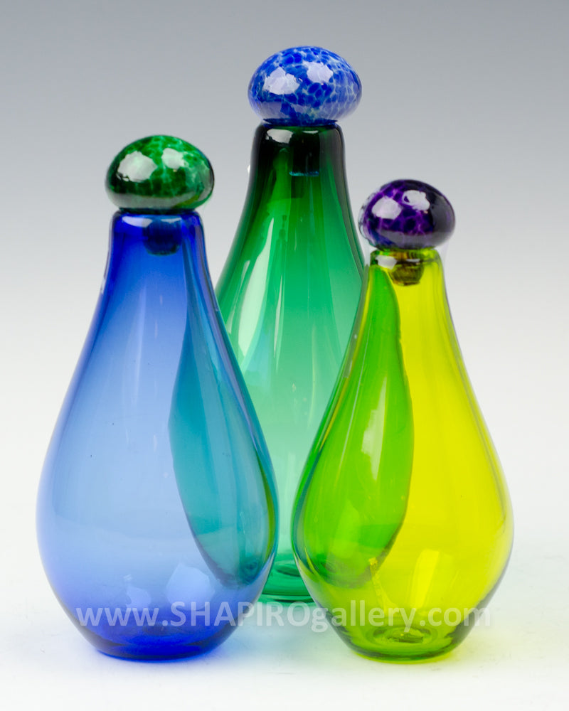 Small Genie Bottles Set of Three - Green