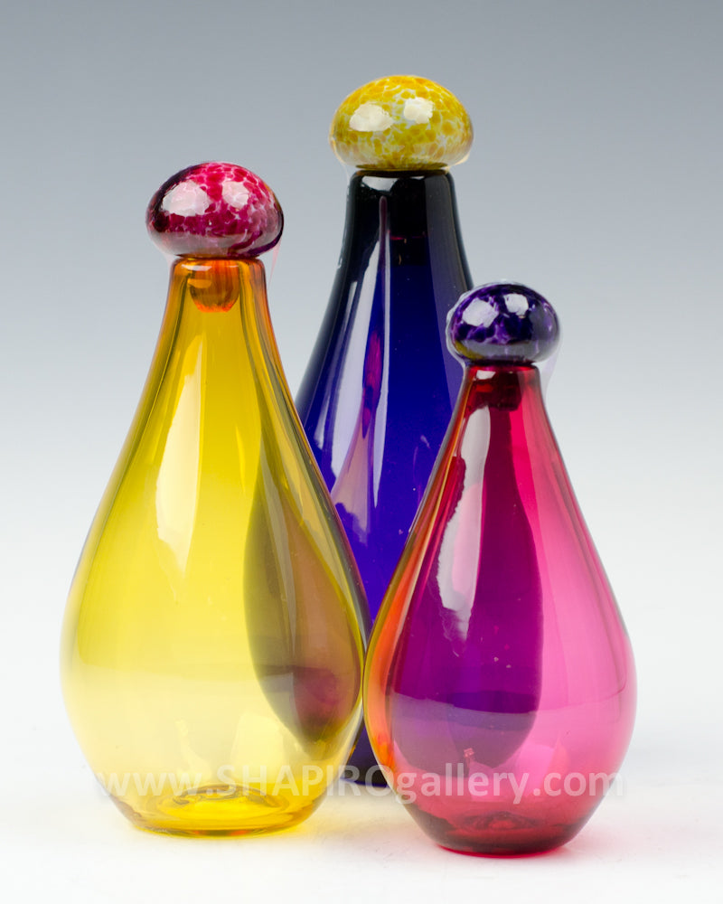 Small Genie Bottles Set of Three - Purple