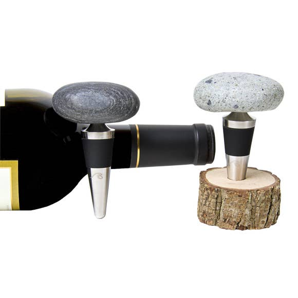 Stone Wine Bottle Topper