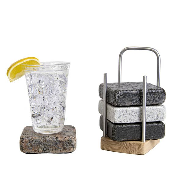 Granite Coasters with Caddy