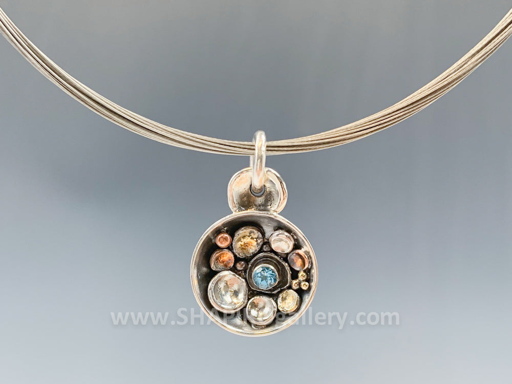 Pebble on the Beach Dome Necklace