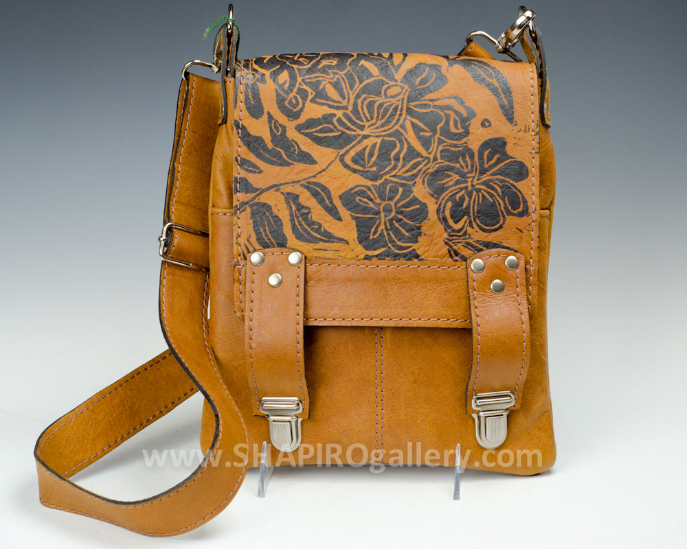 Printed Leather Crossbody