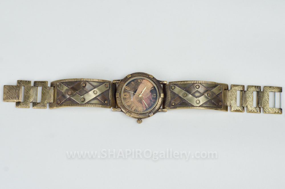 Large Face Criss Cross Watch