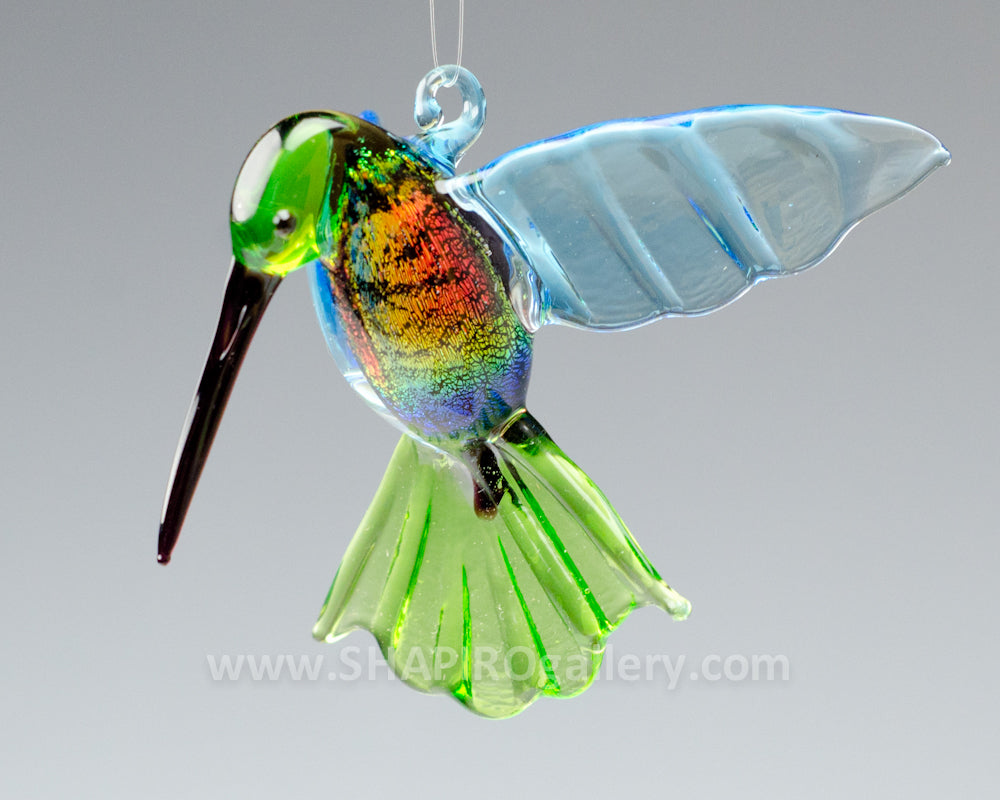 Dichroic Glass Hummingbird