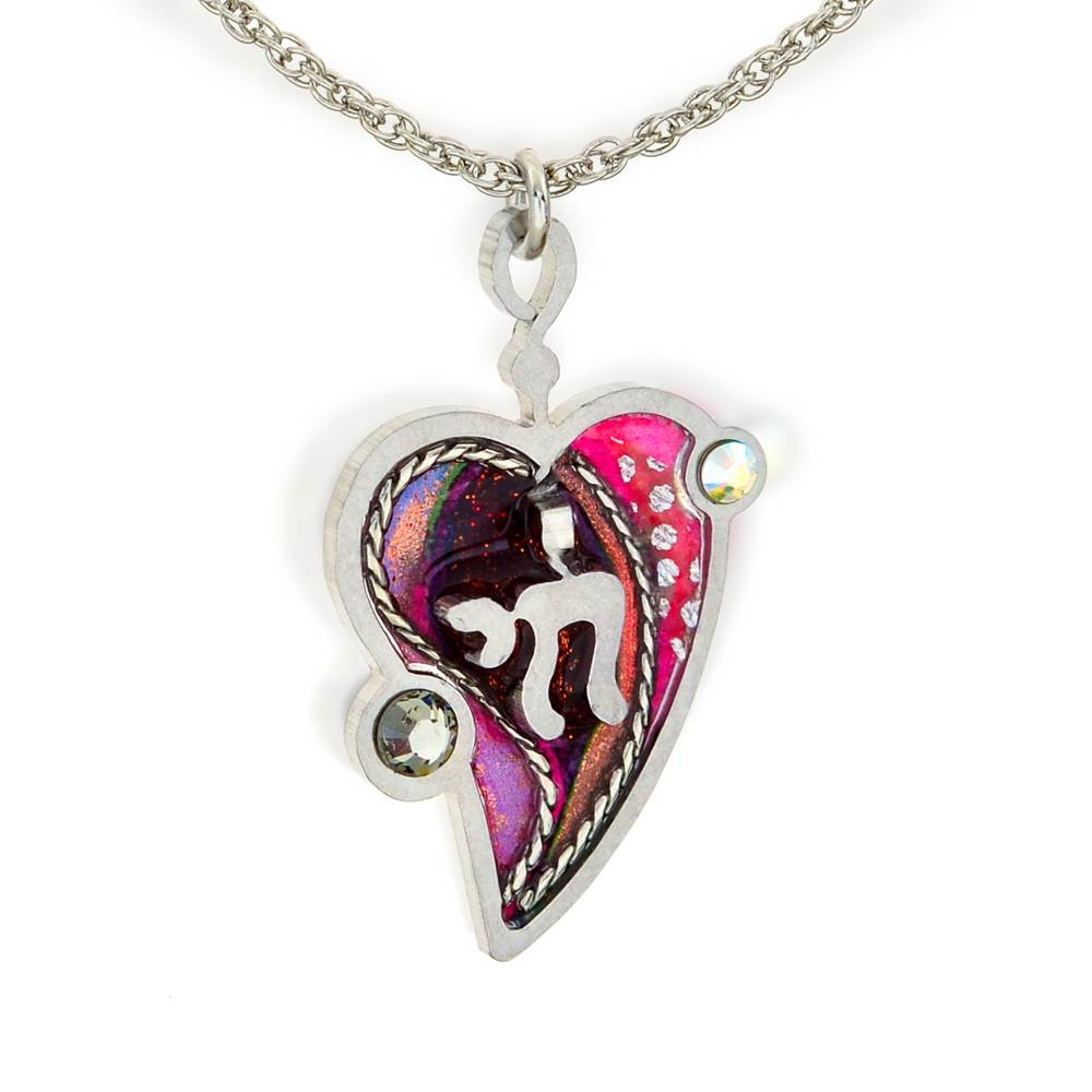 Heart with Chai Necklace
