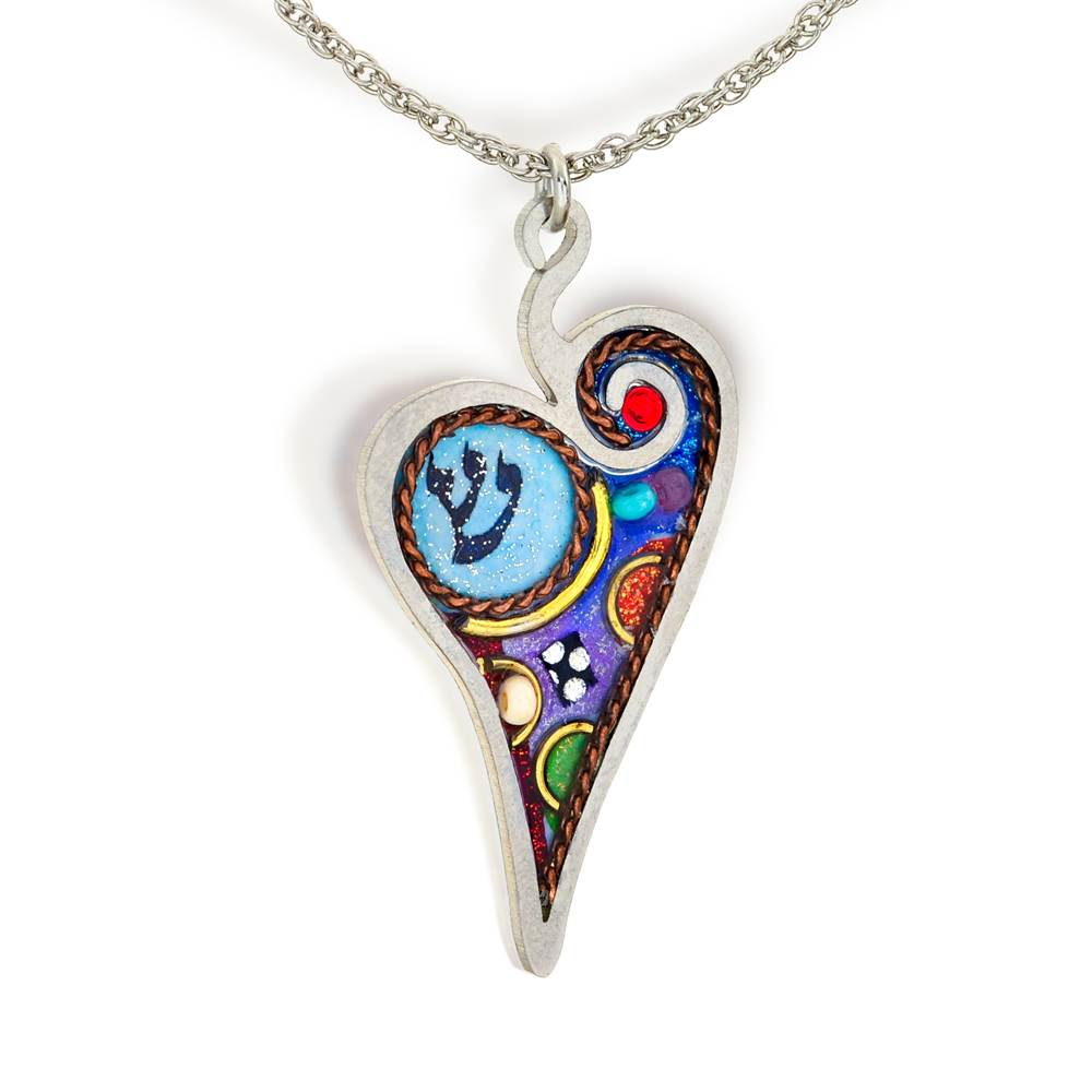 Heart with Shin Necklace