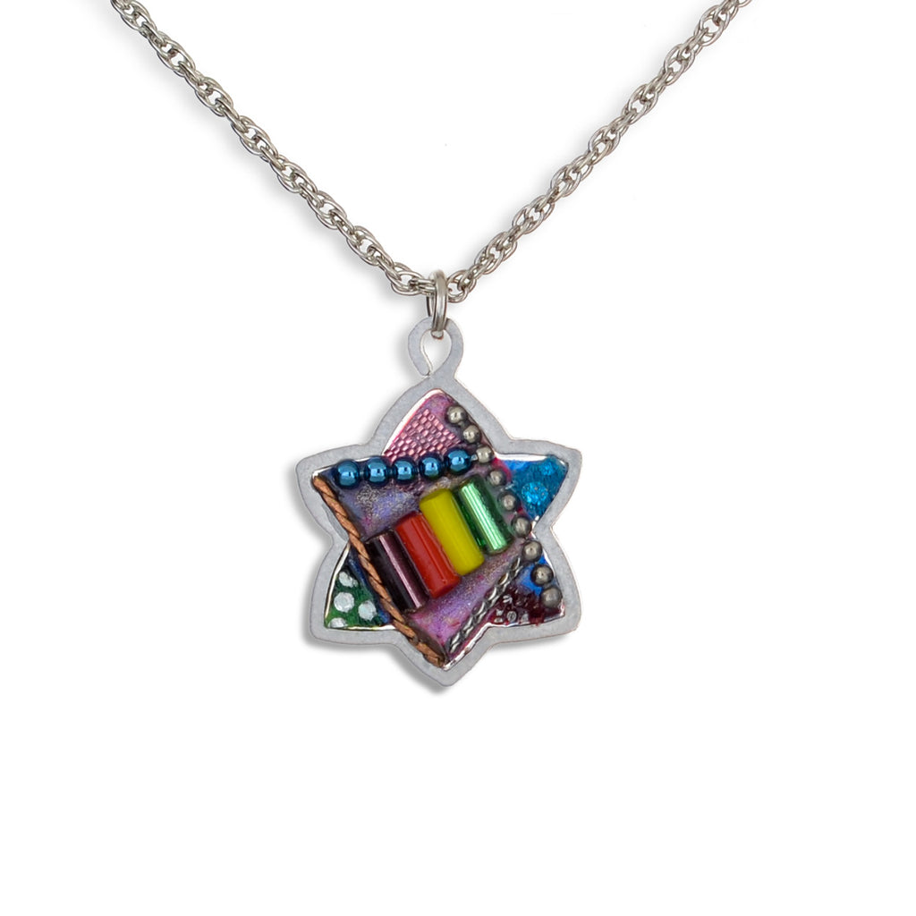 Multicolored Star Necklace