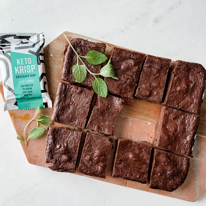 FUDGY CHOCOLATE PEPPERMINT BROWNIES