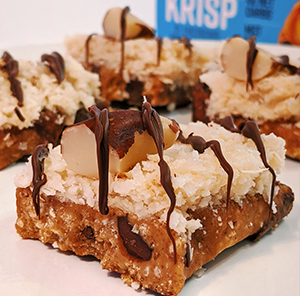 Krispy Almond Joy Bars