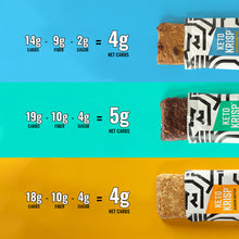 Load image into Gallery viewer, Almond Butter, Almond Butter Chocolate Chip & Chocolate Mint Protein Bars (12-Pack)