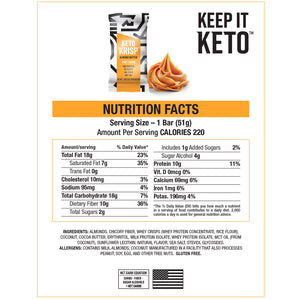 Keto Krisp Variety Pack Nutritional Facts - Almond Butter