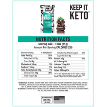 Load image into Gallery viewer, Keto Krisp Nutritional Facts - Chocolate Mint