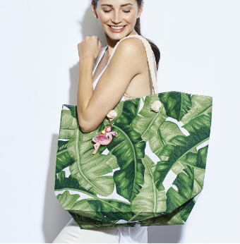 Two's Company Palm Leaf Totes