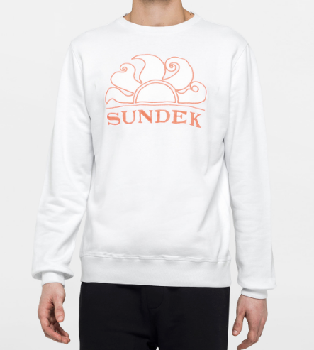 Sundek Logo Crew Neck Embroidered