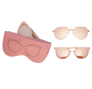 Rose Gold Sunglasses With Case