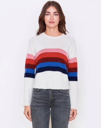 Sundry Multistripes Raglan Sweater
