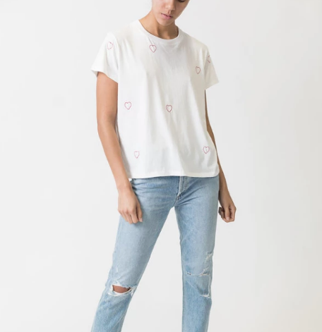 Leallo Chloe Tee with Hearts