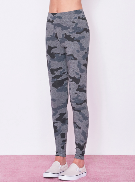 Sundry Star and Heart Camo Yoga Pant