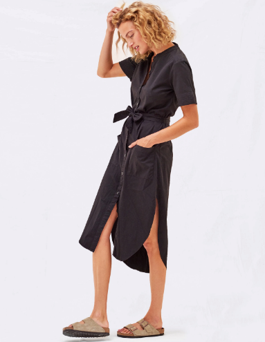 Sundry Tiny Heart Shirt Dress - Navy