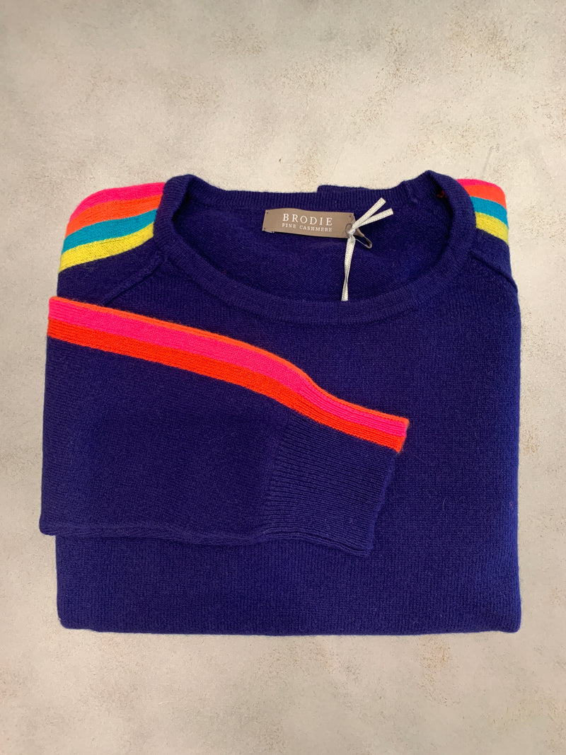 BRODIE CASHMERE Sunset Round Neck Sweater