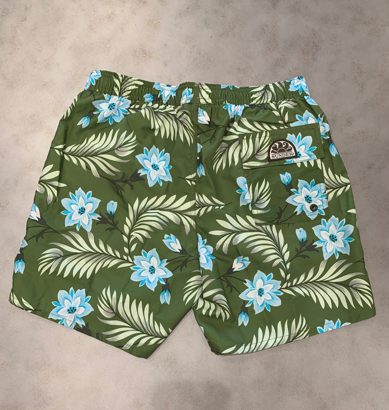 Sundek Printed Swim Trunks