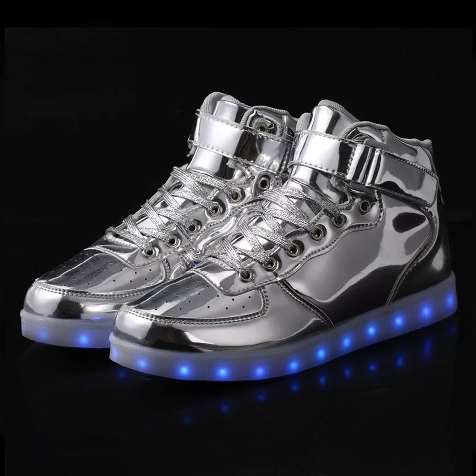 mother girls children from shoes sneakers item light sneaker colorful up in kids boys charging usb colors led