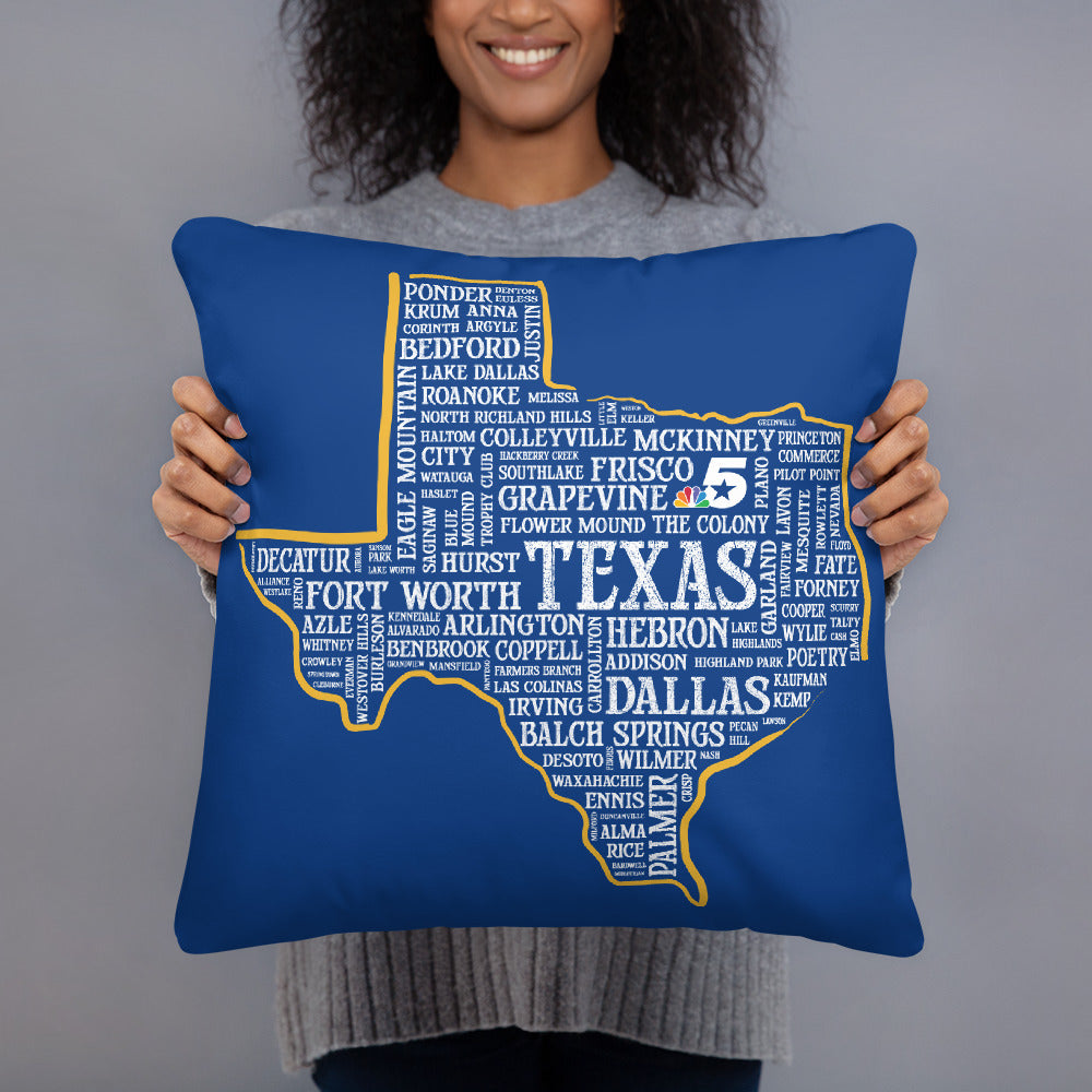 Texas Cities Pillow