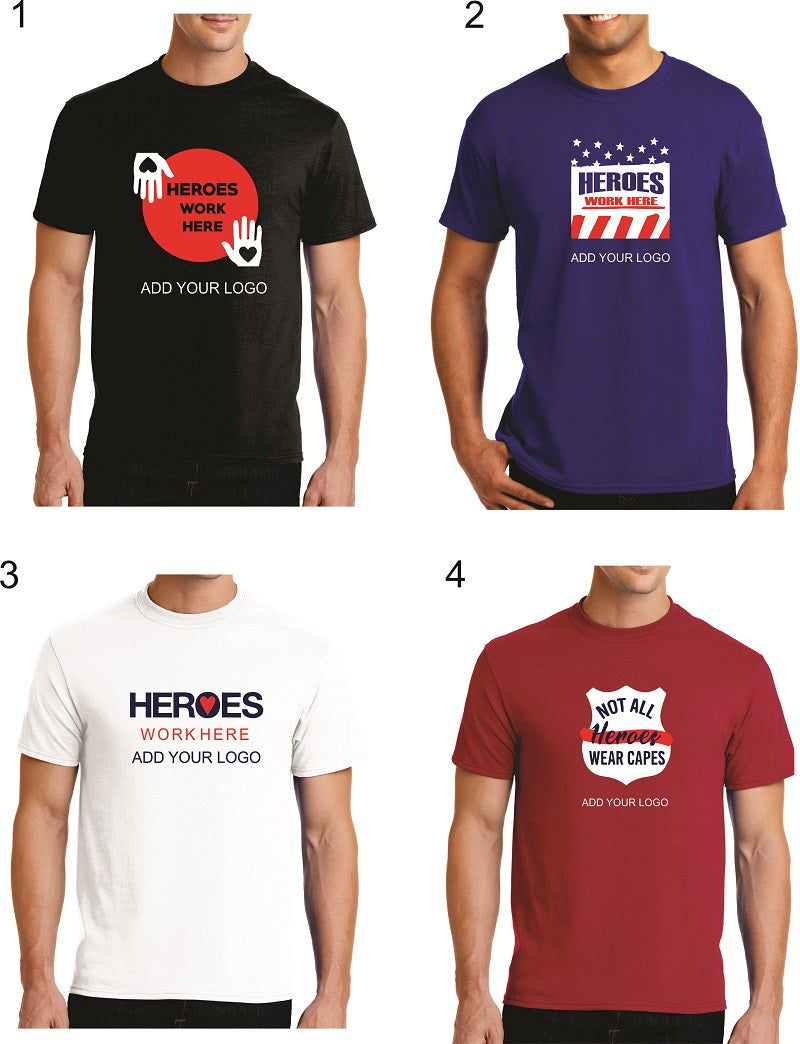 Do you work with heroes? Celebrate them with these designs!