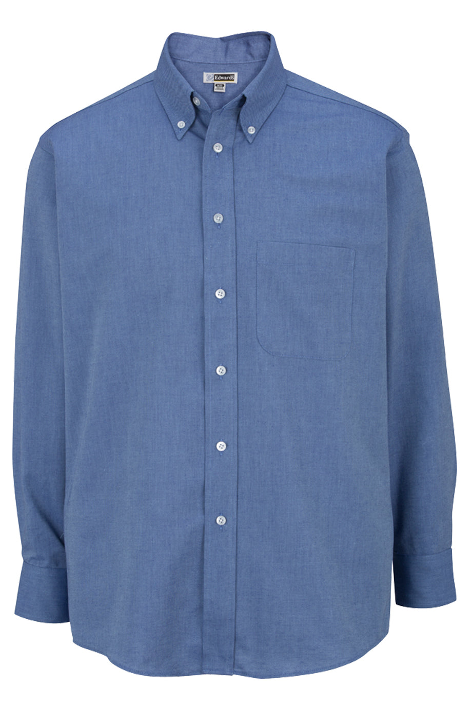 French Blue Edwards Mens Long Sleeve Oxford Shirt