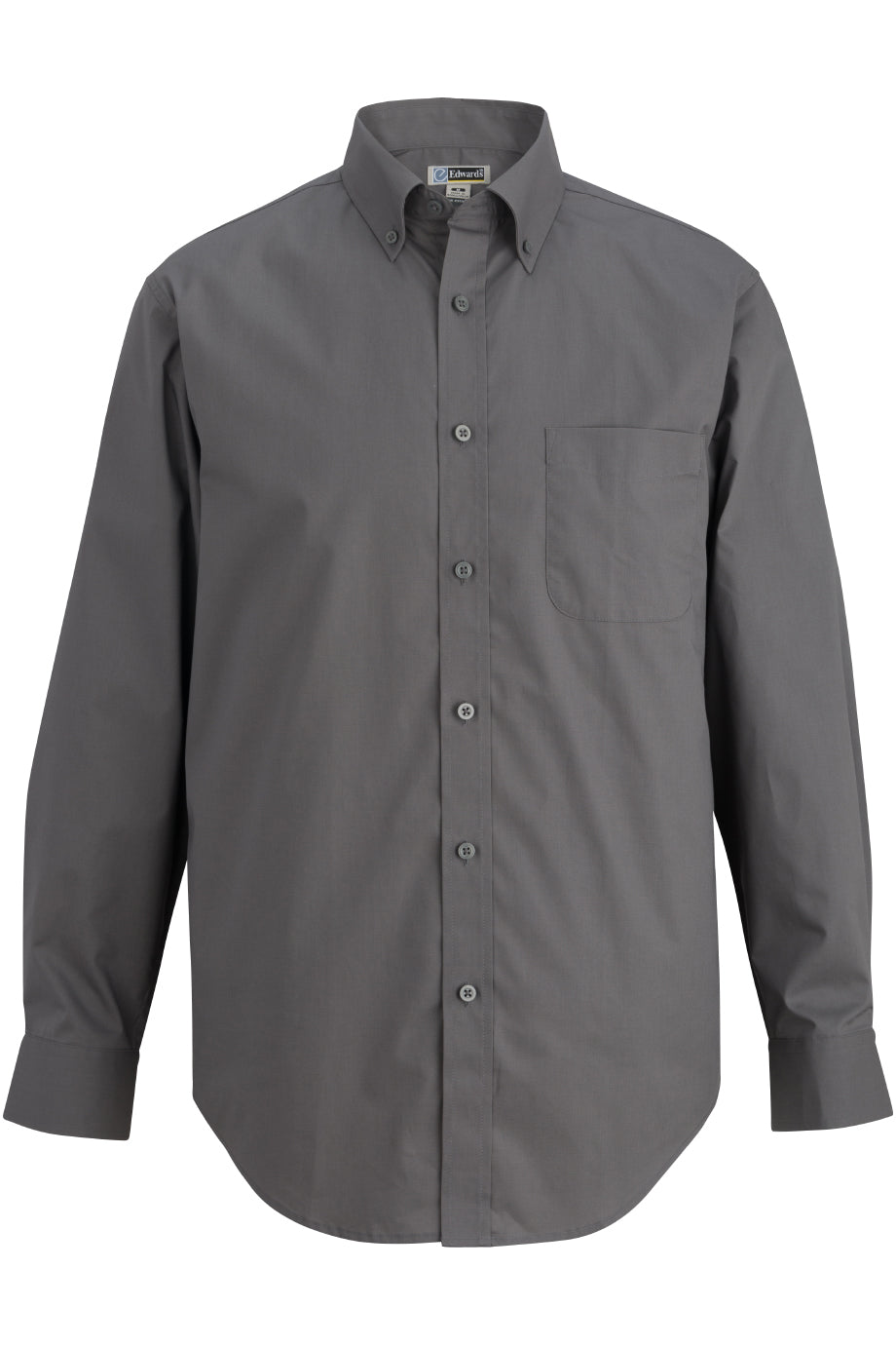 Charcoal Edwards Mens L/S Stretch Poplin Shirt