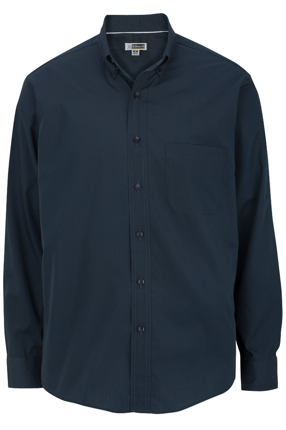 Edwards Mens Lightweight Long Sleeve Poplin Shirt