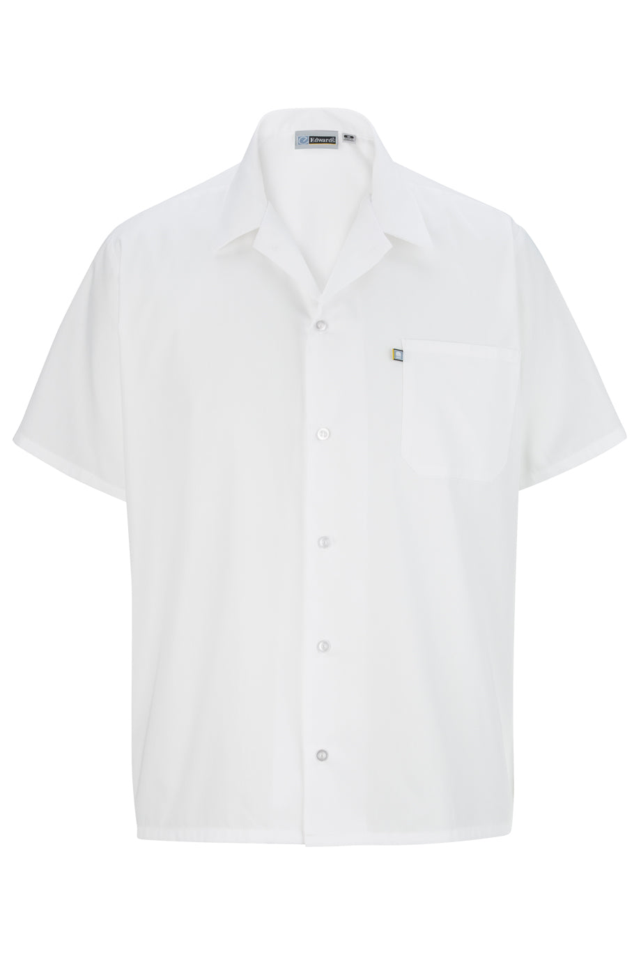 White Edwards Button Front Shirt