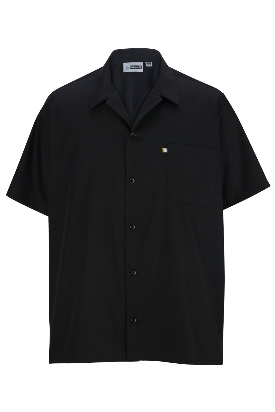 Black Edwards Button Front Shirt With Mesh Back