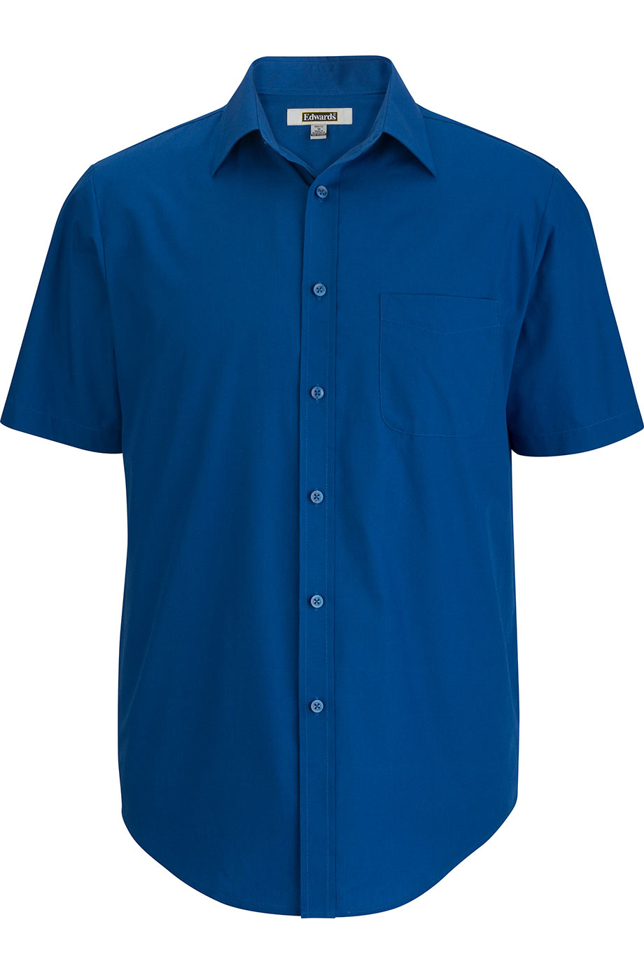 Royal Edwards Mens Essential Broadcloth Shirt Short Sleeve