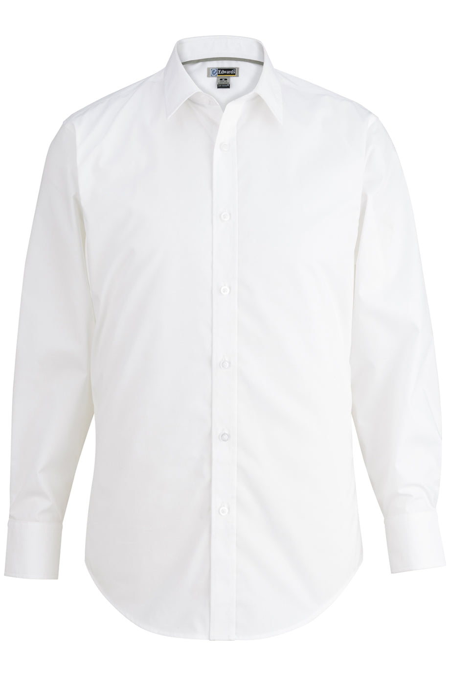 White Edwards Mens L/S Stretch Broadcloth Shirt