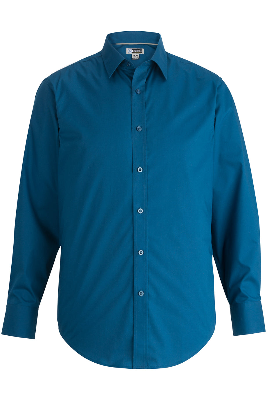French Navy Edwards Mens L/S Stretch Broadcloth Shirt