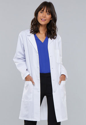 "White 1346 40"" Unisex Cherokee Lab Coat"