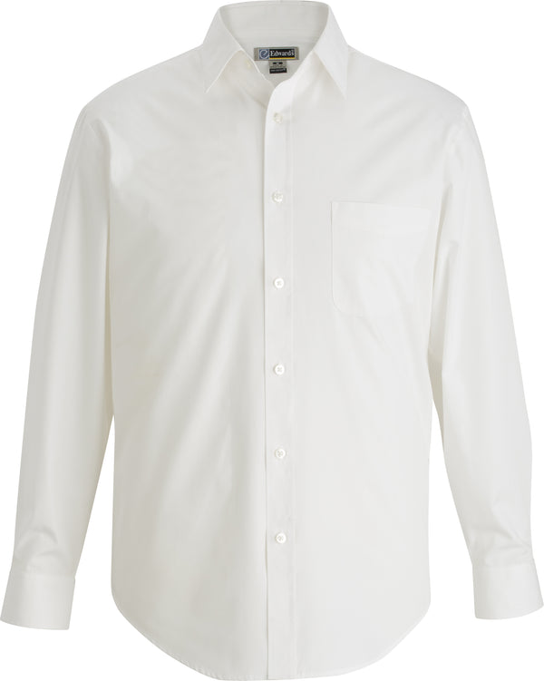 Edwards Mens Essential Broadcloth Shirt Long Sleeve