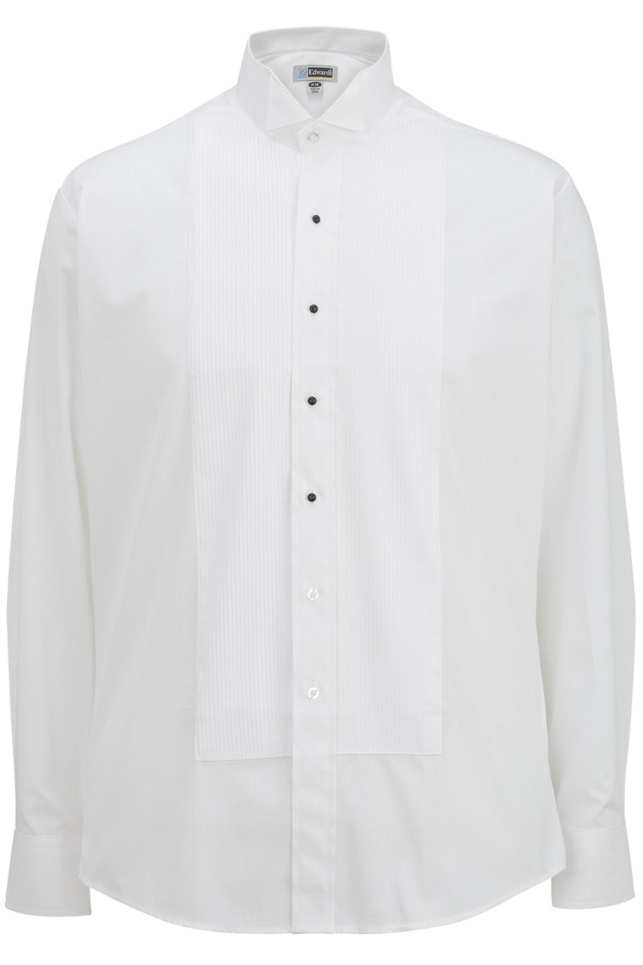 White Edwards Mens Wing Collar Tuxedo Shirt