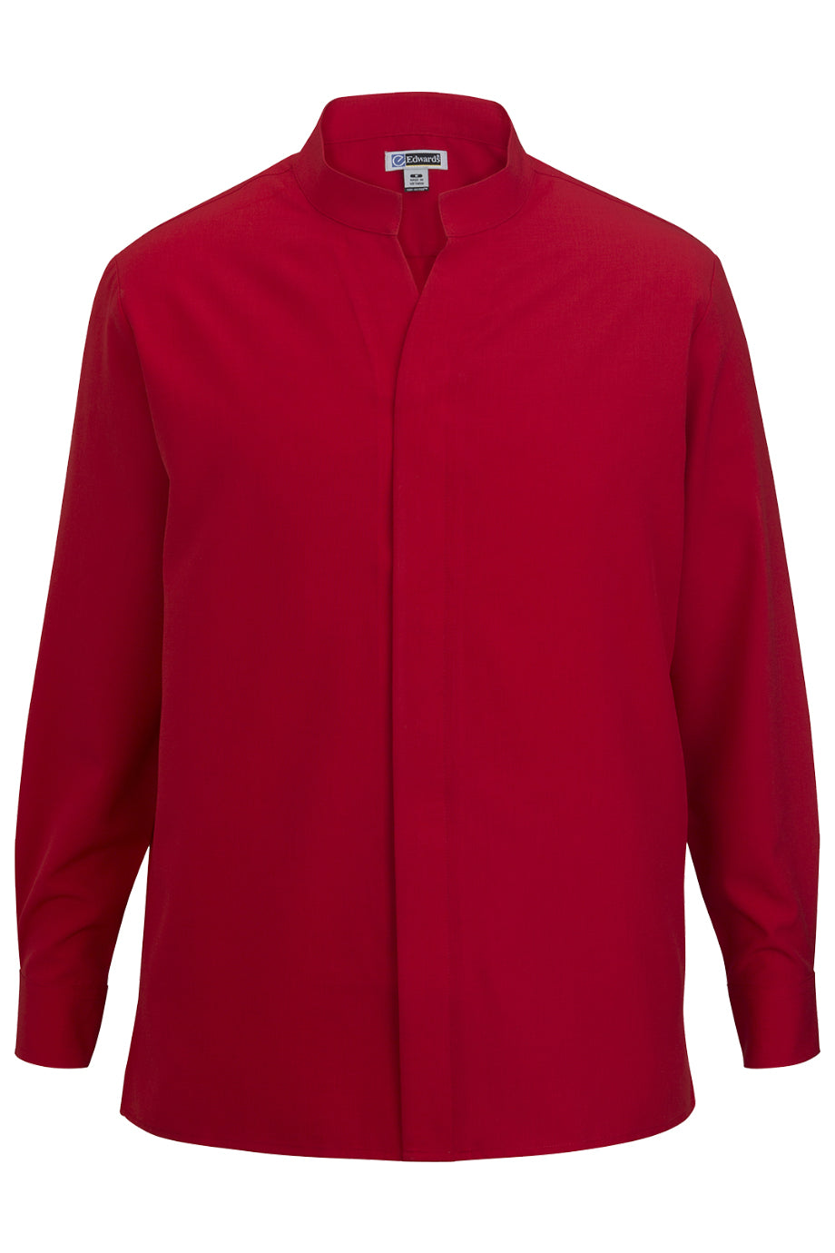 Red Edwards Mens Stand-Up Collar Shirt