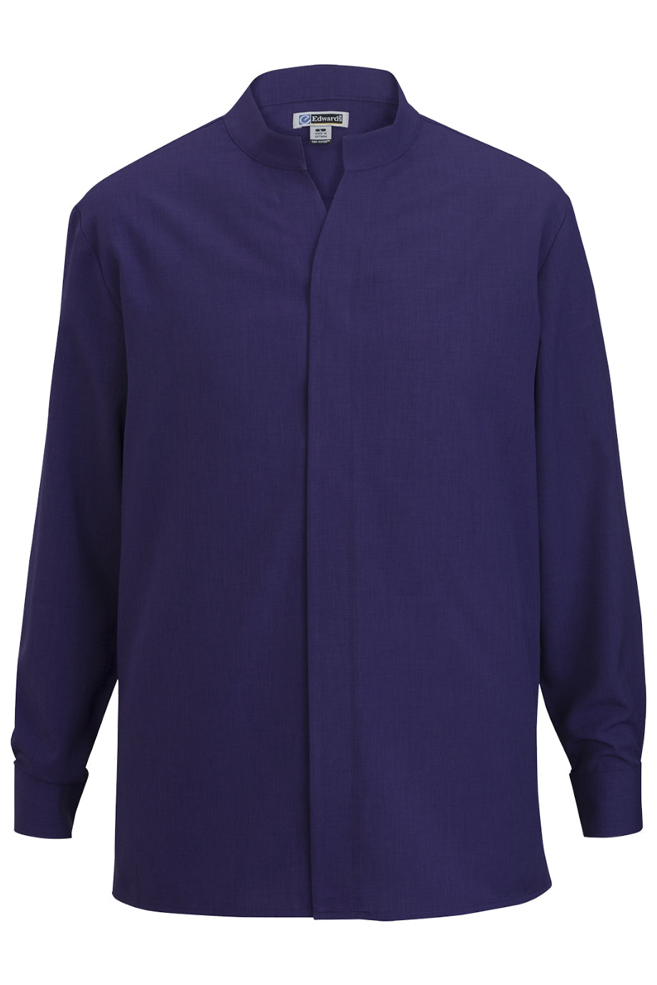 Purple Edwards Mens Stand-Up Collar Shirt