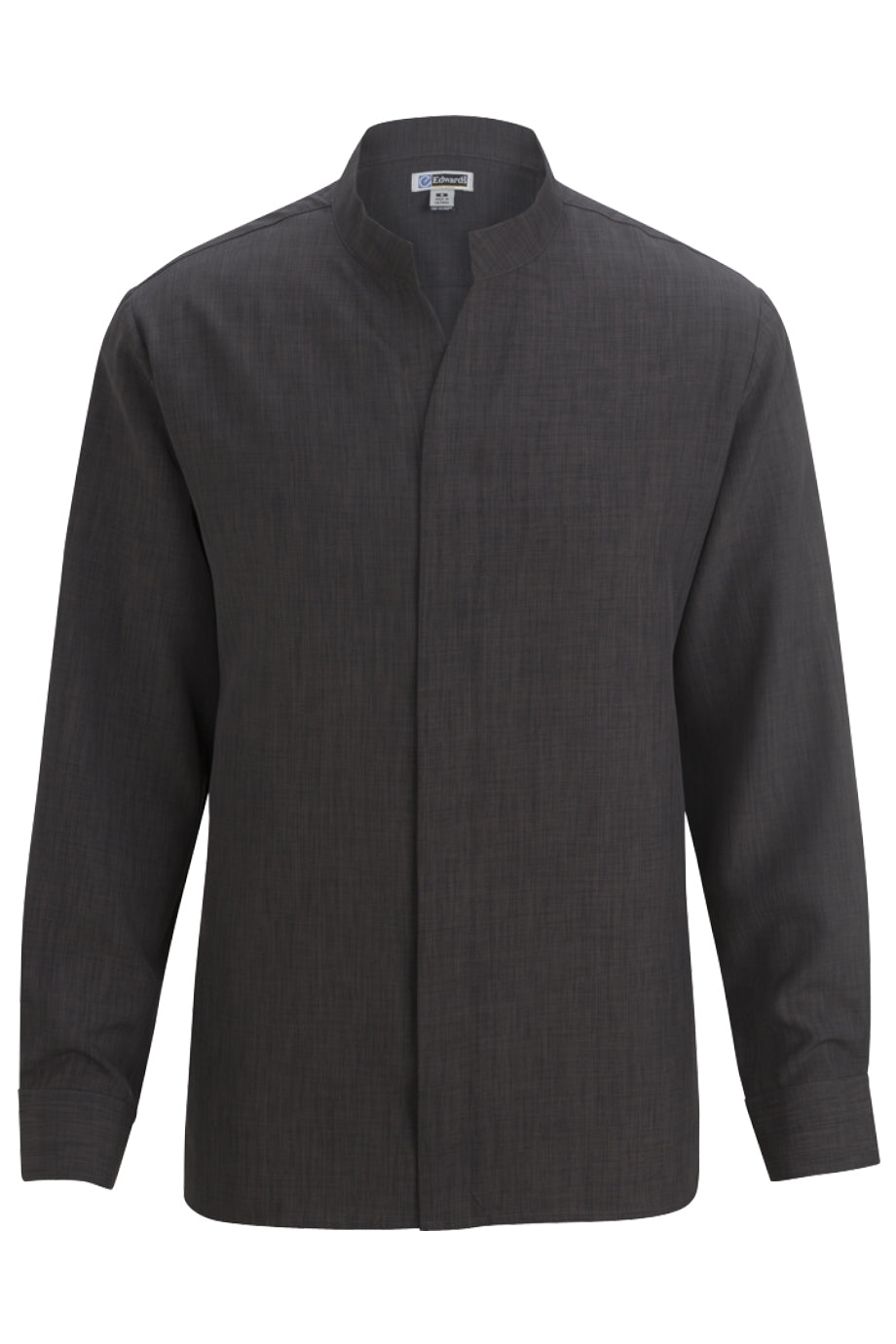 Steel Grey Edwards Mens Stand-Up Collar Shirt