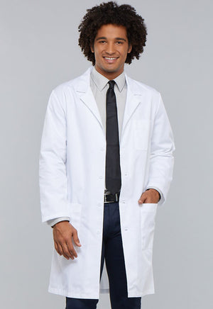 "White 1446 40"" Cherokee Unisex Lab Coat"