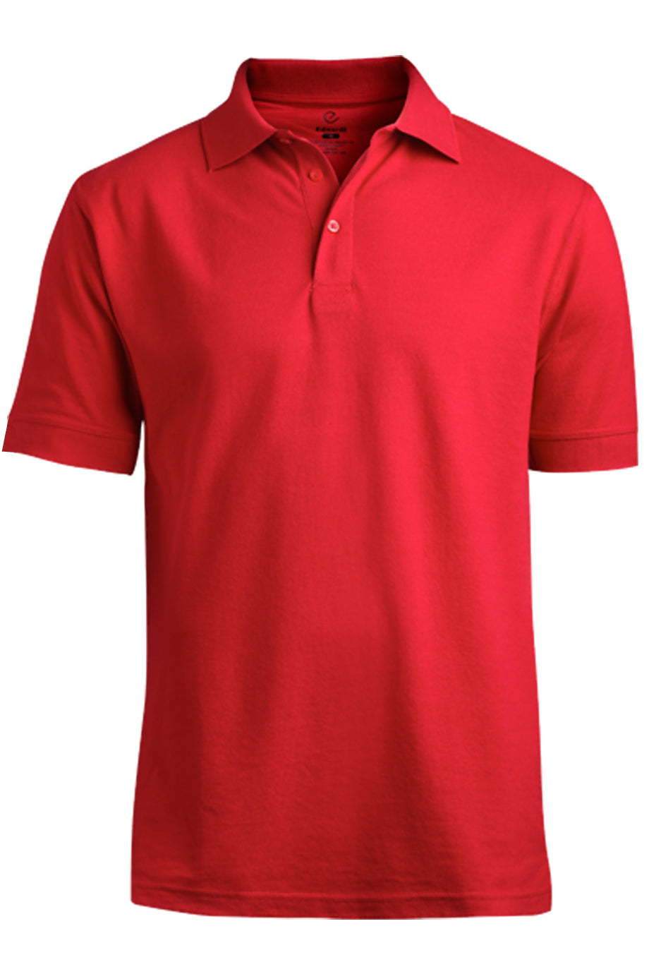 Red Edwards Mens Blended Pique Short Sleeve Polo
